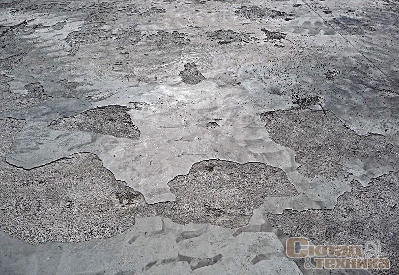 Бетон шелушится купить бетон в кирове кировспецмонтаж